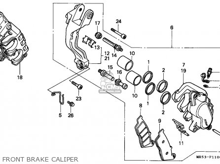 Honda Pc800 Pacific Coast 1990 (l) Canada parts list