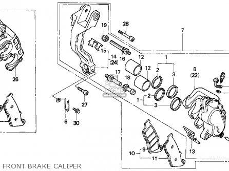 Honda PC800 PACIFIC COAST 1994 (R) USA CALIFORNIA parts