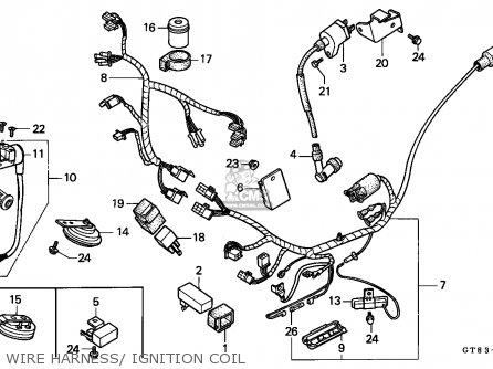 Honda PK50 WALLAROO 1990 (L) SPAIN parts lists and schematics