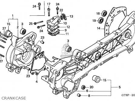Honda PK50S WALLAROO 1993 (P) BELGIUM / 25K parts lists