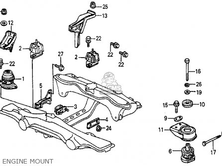 Honda Prelude 1985 (f) 2dr Dx (ka,kl) parts list