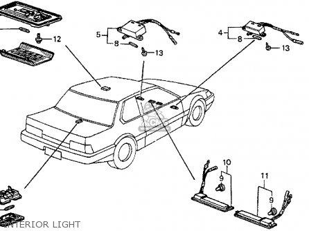 Honda Prelude 1985 (f) 2dr Dx (ka,kl) parts list