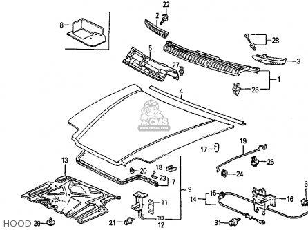 Honda Prelude 1986 2dr Si (ka,kl) parts list partsmanual