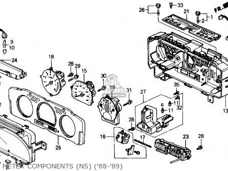 Honda Prelude 1988 2dr 2.0s (ka,kl) parts list partsmanual