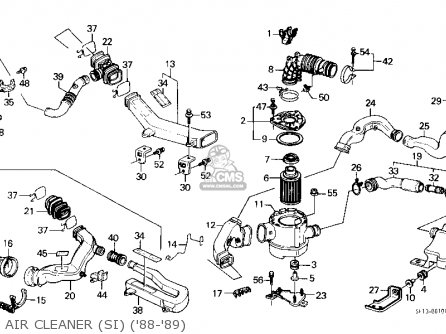 Honda PRELUDE 1988 (J) 2DR 2.0SI (KA,KL) parts lists and