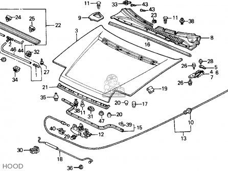 Honda Prelude 1989 2dr 2.0si 4ws (ka,kl) parts list