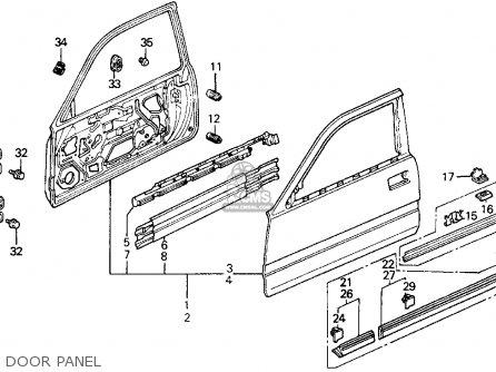 Honda Prelude 1989 (k) 2dr 2.0s (ka,kl) parts list
