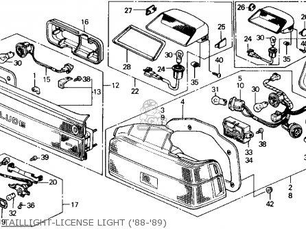 Honda PRELUDE 1989 (K) 2DR 2.0S (KA,KL) parts lists and