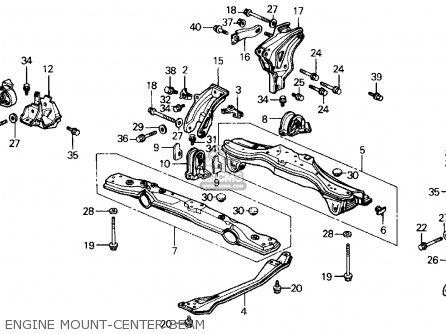Honda Prelude 1990 2dr 2.05si 4ws (ka,kl) parts list