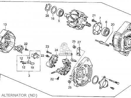 Honda Prelude 1990 2dr 2.05si (ka,kl) parts list