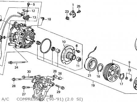 Honda Prelude 1991 (m) 2dr 2.0si (ka,kl) parts list