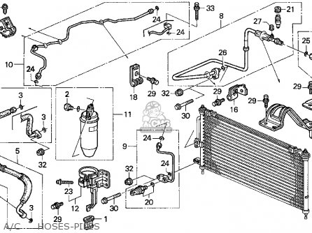 Honda Prelude 1994 (r) 2dr Si (ka,kl) parts list