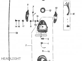 Honda Ps50m (standard) parts list partsmanual partsfiche