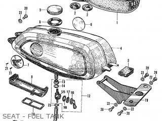 Honda Ps50m (standard) parts list partsmanual partsfiche