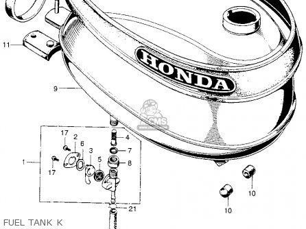 Honda Qa50 1970 K0 Usa parts list partsmanual partsfiche