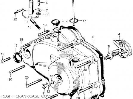 Honda Qa50 1970 Qa50k0 Usa parts list partsmanual partsfiche