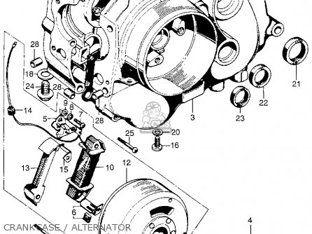 Honda Qa50 1974 Qa50k2 Usa parts list partsmanual partsfiche