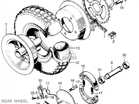 Honda Qa50 1974 Qa50k2 Usa parts list partsmanual partsfiche
