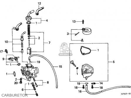 Honda Qr50 1983 Canada parts list partsmanual partsfiche