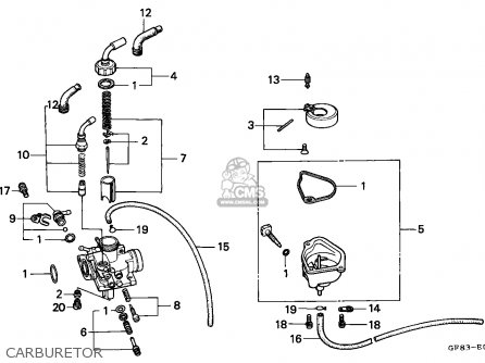 Honda QR50 1984 (E) CANADA parts lists and schematics