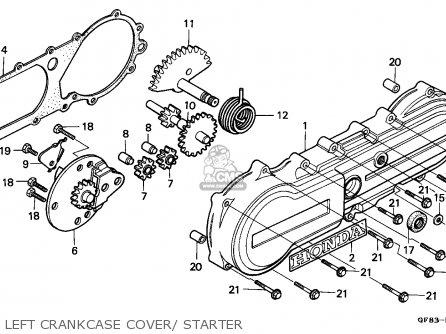 Honda Qr50 1985 (f) Australia parts list partsmanual