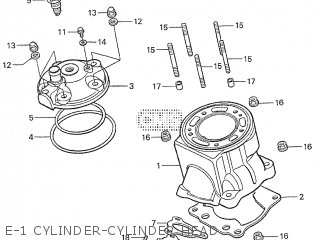 Honda RS125R 2000 HRC parts lists and schematics