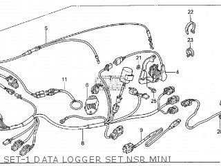 Honda RS250 2003 HRC DATALOGGER parts lists and schematics