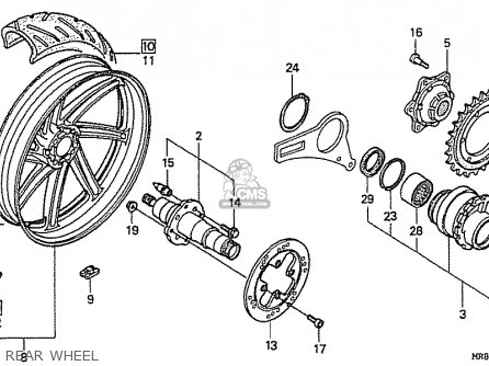 Honda Rvf400rt *rt-ii Nc35 Japanese Domestic parts list