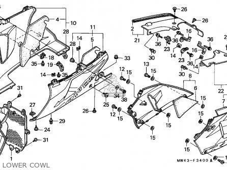 Honda Rvf750r Rc45 1994 (r) England / Mkh parts list