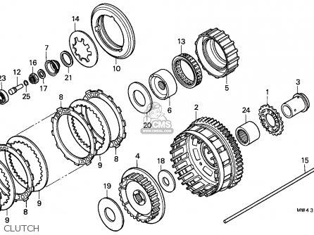Honda Rvf750r Rc45 1994 (r) France / Kph parts list