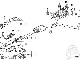 Honda S2000 2000 (Y) 2DR S2000 (KA) parts lists and schematics