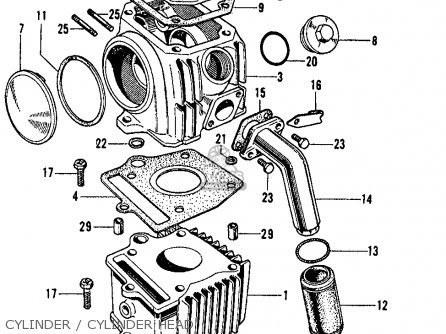 Honda S65 Sport 65 1965 Usa parts list partsmanual partsfiche