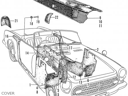 Honda S800 Convertible parts list partsmanual partsfiche