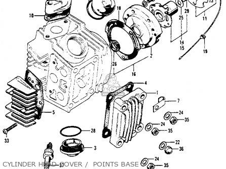 Honda S90 Super 90 1964 Usa parts list partsmanual partsfiche