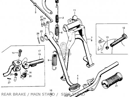 Honda S90 Super 90 1964 (u.s.a.) parts list partsmanual