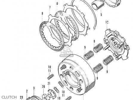Honda S90 Super Sport General Export parts list