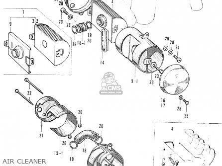 Honda S90 Super Sport (general Export Model) parts list