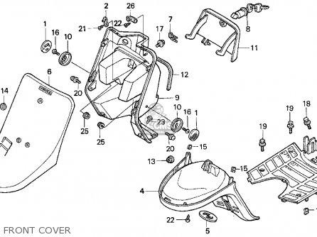 Honda Sa50 50 Sr 1995 (s) Usa parts list partsmanual
