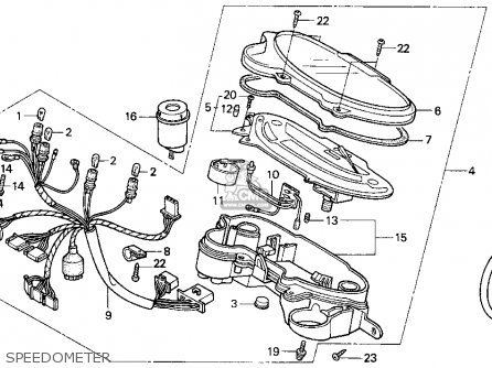 Honda Sa50 50 Sr 1995 (s) Usa parts list partsmanual