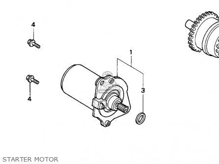 Honda Sa50 50 Sr 1995 Usa parts list partsmanual partsfiche