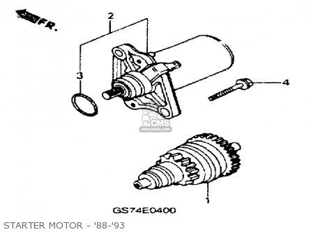 Honda SA50 ELITE 50SR 1992 (N) USA parts lists and schematics