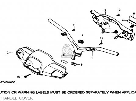 Honda SA50 ELITE 50SR 1993 (P) USA parts lists and schematics