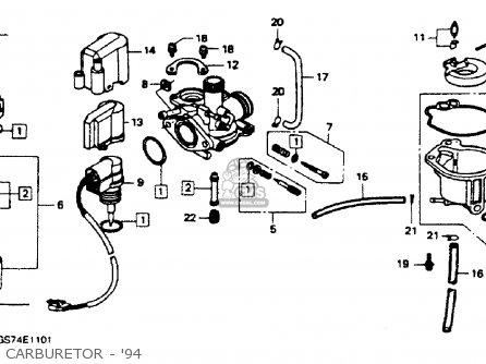 Honda Sa50 Elite 50sr 1994 (r) Usa parts list partsmanual