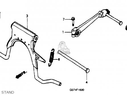 Honda SA50 ELITE 50SR 1994 (R) USA parts lists and schematics