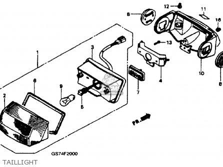 Honda SA50 ELITE LX 1989 (K) USA parts lists and schematics