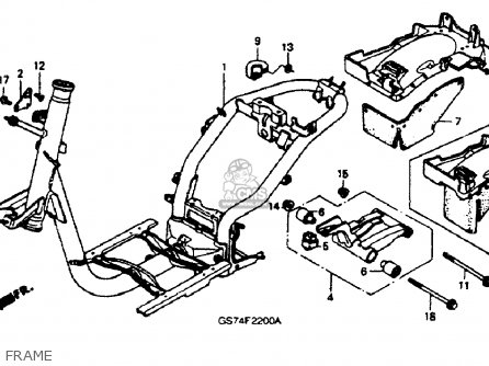 Honda Sa50 Lx 1988 Usa parts list partsmanual partsfiche
