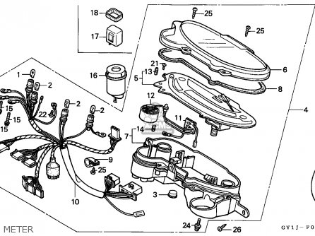 Honda SA50 VISION 1988 (J) FRANCE parts lists and schematics