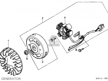 Honda SA50 VISION 1988 (J) PORTUGAL parts lists and schematics