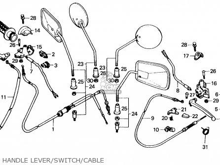 Honda Sa50 Vision 1991 France parts list partsmanual