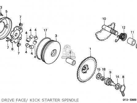 Honda Sa50 Vision 1993 Italy parts list partsmanual partsfiche